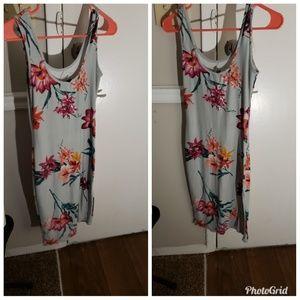 Blue flora dress